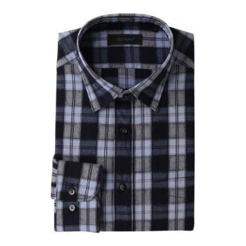 <ダーバン>【LEGGIUNO社製生地使用】 ジャカードチェック柄 ドレスシャツ