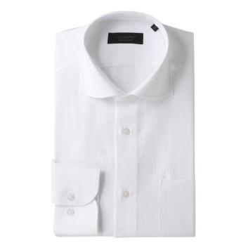<ダーバン>ALBINI白組織無地シャツ
