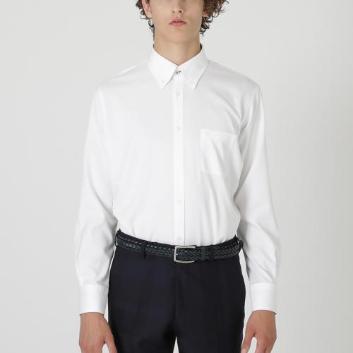 <ブラックレーベル・クレストブリッジ>【イージーケア】ソリッドツイルボタンダウンシャツ