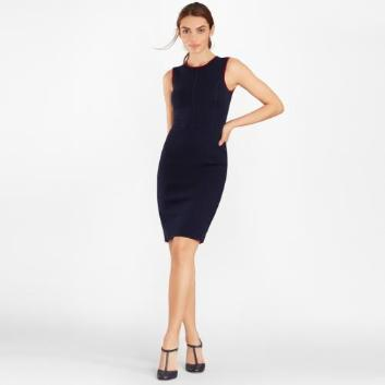 <ブルックス ブラザーズ>ウォッシャブルメリノウール ミラノリブ ノースリーブニットドレス
