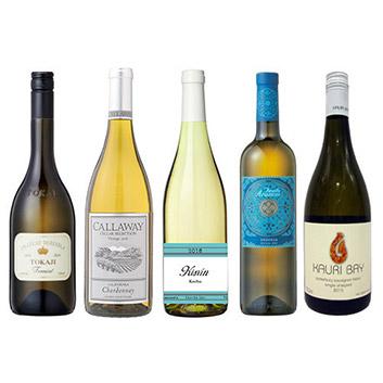 【送料無料】ANAショッピングソムリエが選んだ、機内ワインが入った白ワイン5本セット(2019)