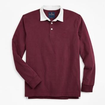 <ブルックス ブラザーズ>GF ブラッシュドコットン ラグビーシャツ