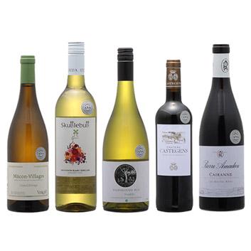 2019年度機内ワイン ビジネスクラス赤白5本セット