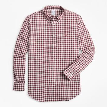 <ブルックス ブラザーズ>GF コットン ブラッシュドオックスフォード ギンガムチェック スポーツシャツ Regent Fit