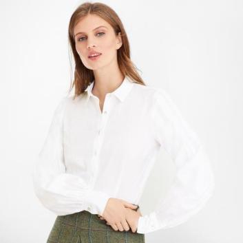 <ブルックス ブラザーズ>ノンアイロン コットンジャカード ビショップスリーブ ドレスシャツ