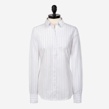 <ブルックス ブラザーズ>ノンアイロン コットン ドビーストライプ ピックステッチ ドレスシャツ Fitted Fit