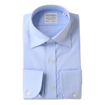 <五大陸>【形態安定】PREMIUMPLEATS ドレスシャツ /ヘリンボーン