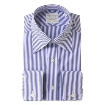 <五大陸>【形態安定】PREMIUMPLEATS ドレスシャツ / ロンドンストライプ