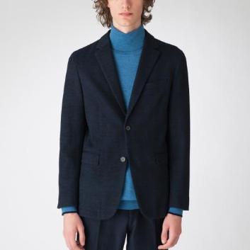 <ブラックレーベル・クレストブリッジ>クレストブリッジグレンチェックウールジャージージャケット
