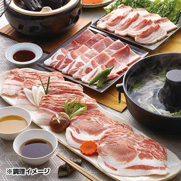 九州産黒豚しゃぶしゃぶ肉と焼肉セット