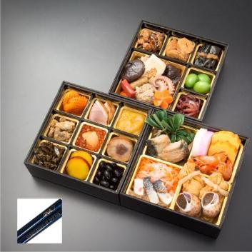 ★数量限定ANAロゴ入り箸付★<ANAオリジナル>日本料理 一乃松 謹製冷凍おせち三段重
