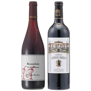 自然派ボジョレーとファーストクラス採用赤ワイン2本セット