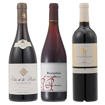 自然派ボジョレーとファースト、ビジネスクラス採用赤ワイン3本セット