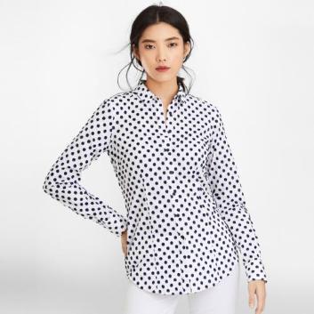 <ブルックス ブラザーズ>スーピマコットン クリップフラワー ドレスシャツ Tailored Fit
