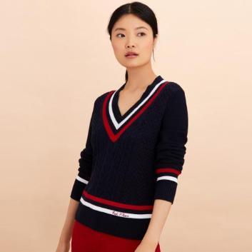 <ブルックス ブラザーズ>Red Fleece コットン Vネック テニスセーター