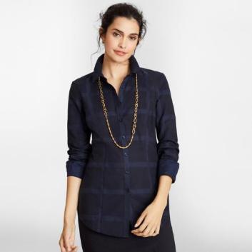 <ブルックス ブラザーズ>コットン ジャカードチェック ドレスシャツ Tailored Fit