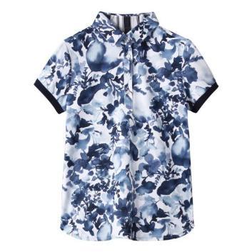 <キャロウェイアパレル>【吸汗速乾】【UVカット】水彩画プリントポロシャツ