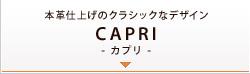 本革仕上げのクラシックなデザイン CAPRI カプリ