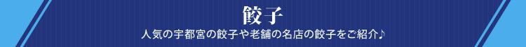 餃子 人気の宇都宮の餃子や老舗の名店の餃子をご紹介