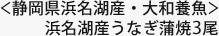 <静岡県浜名湖産・大和養魚>浜名湖産うなぎ蒲焼3尾